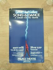 More details for vintage original song and dance the musical poster -  palace theatre, london
