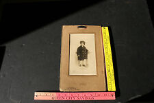 Vintage Old Antique Cabinet Photo World War I Child in Military Uniform York PA