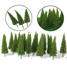 50 pcs Model Pine Trees Model Train Trees for HO Or OO Scale Scene Layout 65mm