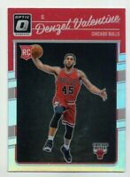 2016-17 Optic DENZEL VALENTINE Rookie Card RC HOLO SILVER REFRACTOR Bulls #163