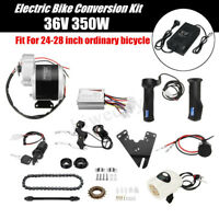 36V 350W Electric Bike Conversion Kit + Charger For 24-28'' Ordinary Bicycle