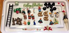 VINTAGE LOT OF 40 CHRISTMAS CAKE TOPPER DECORATIONS, MINIATURE, BAKING KITCHEN