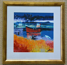"""John Lowrie Morrison Framed  """"The Puffer Eilean Easdale"""" Signed, Numbered Art"""
