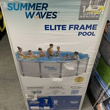 New listing Summer Waves 14ft Elite Frame Pool with Filter Pump, Cover, and Ladder Free Ship