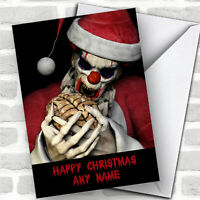 Horror Zombie Clown Funny Joke Personalized Christmas Card