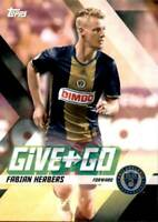 2017 Topps MLS Give and Go #GG-HS C.J. Sapong Fabian Herbers Philadelphia Union