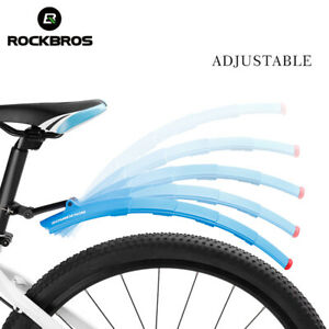 RockBros MTB Road Bike Fender Folding Mudguards Front and Rear Taillight 2 Color
