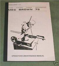 Pedrazzolli Mec Brown 75 Cut-Off Saw manual