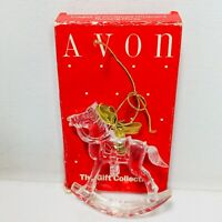 Avon Images Of Christmas Ornament Rocking Horse