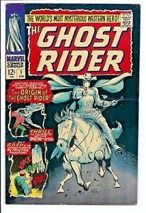 Ghost Rider (Western) #1 F-VF+ Marvel Silver Age Key 1st/Origin Carter Slade