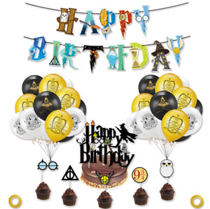 Harry Potter ⚡Birthday Party Decorations - Banner, Balloons and Cake Topper set