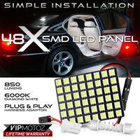 1PC [48-SMD LED Panel] Car SUV Interior Dome Ceiling Door Light Bulb T10 Festoon