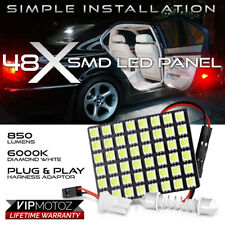 1PC [48-SMD LED Panel] Car SUV Interior Dome Ceiling Door Light Bulb T10 Festoon