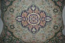 Ralph Lauren Rutherford Park Persian Rug Purple Green Euro Pillow Sham Cotton