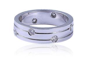 0.30 Cts Round Brilliant Cut Diamonds Unisex Wedding Band Ring In 585 14K Gold