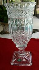 """Shannon 24% Lead Crystal Vase """"Designs Of Ireland"""" Pattern, square base,13 x 6.5"""