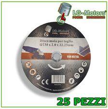 KIT 25 DISCHI TAGLIO FLEX PER FERRO METALLO SMERIGLIATRICE LG-MOTORS 230 MM