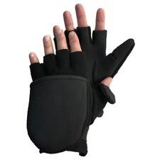 Glacier Glove Alaska River Black Flip Mitt Glove Fishing Hybrid Mitten Glove