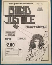 BLIND JUSTICE~ORIG 1980s CONCERT FLYER~PHOENIX ARIZONA~HEAVY METAL BE THERE