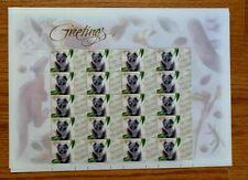 1999 Australia Personal Greetings Stamps Greetings Sheet of 20 Mnh/Og