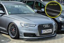 Spoilerschwert Frontspoiler für Audi A6 C7 4G Facelift mit ABE Carbon Optik