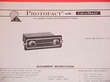 1973 TRUETONE AM RADIO SERVICE MANUAL MED4053A-47 (DC4053) CHEVROLET FORD DODGE
