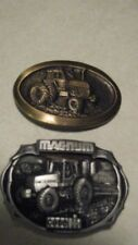 ( 2 ) Vintage 1980's Case Tractor Belt Buckles Case Magnum & Case 2590