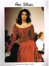 Publicité Advertising 1990 Haute couture Per Spook