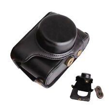 For Fujifilm Fuji X100F Case Good PU Leather with Hard Alloy Base Shoulder Strap