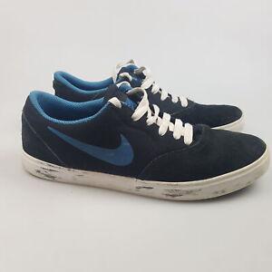 Boy's NIKE 'SB Check GS' Sz 7Y Shoes Black VGCon Suede Skate   3+ Extra 10% Off