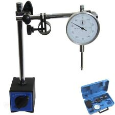 "Dial Indicator 1""/0.001"" Long Range +80 lbs Magnetic Base Fine Aajustment +Case"