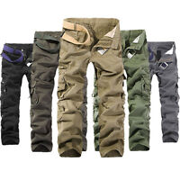 Men's Camouflage  Casual Military Army Cargo Camo Combat Work Pants Trousers