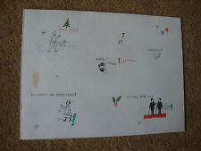 Studio Herge Christmas card (Carte De Voeux) 1971 signed by herge - rare