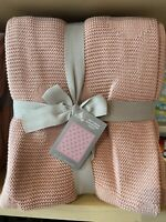 New 2020 Disney Parks Pink Mickey Mouse Silhouette Knit Throw Blanket