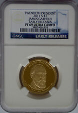 NGC Early Releases 2011 Proof JAMES GARFIELD 20th Presidential Dollar PF69 PR $1