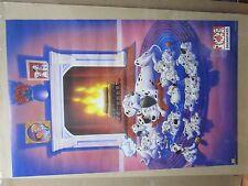 Vintage Disney's 101 Dalmations original movie poster puppies 12126
