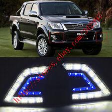 Exact Fit LED Daytime Running Lights DRL Fog Light For Toyota Hilux Vigo 2012-14