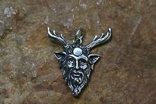 Dios forestales remolques Cernunnos plateado + colgante protección 925er Sterling plata celtas