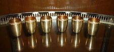 6 GOBELET LIQUEUR  VERMEIL POINCON MINERVE ( Argent massif ) verre timbale