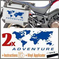 2pcs Adesivi Planisfero ADV Blu BMW Motorrad KTM HONDA SUZUKI KAWASAKI YAMAHA