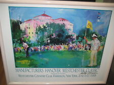 AUTOGRAPH SEVE BALLESTEROS POSTER / AUTOGRAPHED BY LEROY NIEMAN FRAMED