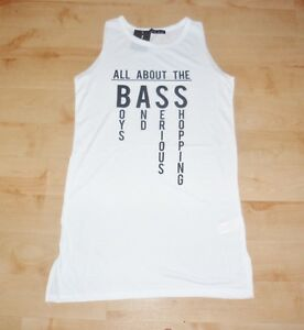BNWT Primark ladies ALL ABOUT THE BASE white long summer vest t-shirts