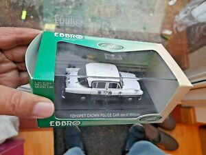 TOYOPET CROWN POLICE CAR 1/43 4in  EBBRO OLDIES Model Boxed * SHOP MODEL