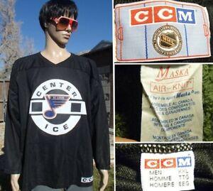 vintage CCM st louis blues CENTER ICE hockey jersey CANADA MADE sewn logos XXL