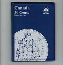Uni-Safe Canadian Canada 50 Cents Coin Collection Album Folder Blank - No Date