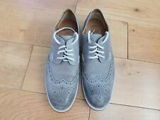 Clarks Gent's Grey Suede Nubuck Lace Up Brogues, Size 41 (UK 7)