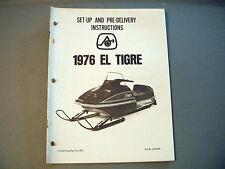 1976 Vintage Arctic Cat El Tigre Dealer Setup Manual