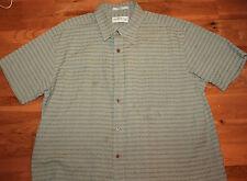 Orvis Green short sleeve 100% cotton button front shirt size adult XL