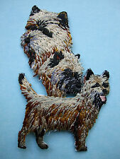 IRON-ON EMBROIDERED PATCH - CAIRN TERRIER - DOG