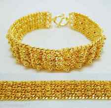 22K 24K THAI BAHT YELLOW GOLD GP Pikun Flower Bracelet